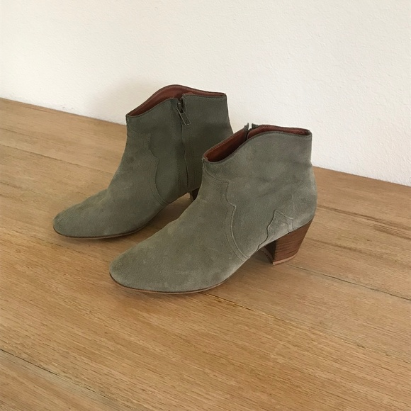 Isabel Marant Green Suede Dicker Boots